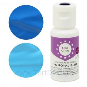 """Краситель гелевый """"Cake Colors"""" 102 Royal Blue (Голубой) 20 г"""