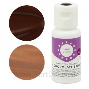 "Краситель гелевый ""Cake Colors"" 104 Chocolate Brown (Шоколадный) 20 г"