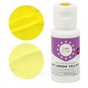 "Краситель гелевый ""Cake Colors"" 107 Lemon Yellow (Жёлтый) 20 г"