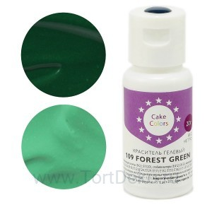 "Краситель гелевый ""Cake Colors"" 109 Forest Green (Зеленый лес), 20 г"