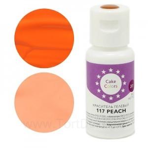 "Краситель гелевый ""Cake Colors"" 117 Peach (Персиковый), 20 г"