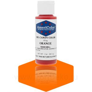 """Краситель гелевый жирорастворимый """"AmeriColor"""" Orange (Америколор Оранжевый) 56 г"""