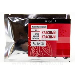 Краситель сухой жирорастворимый MIXIE Красный-красный 10 г