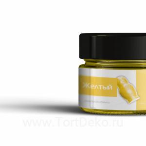 Краситель жирорастворимый сухой для шоколада КондиПро (Желтый) 10 г
