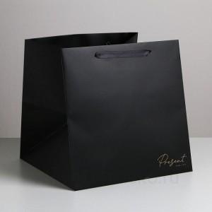 Квадратный пакет Present, 30 × 30 × 30 см