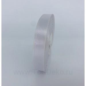Лента атласная 12 мм, L-32,9 м (белый)