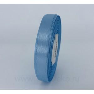 Лента атласная 12 мм, L-32,9 м (голубой)