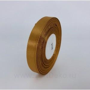Лента атласная 12 мм, L-32,9 м (коричневый светлый)