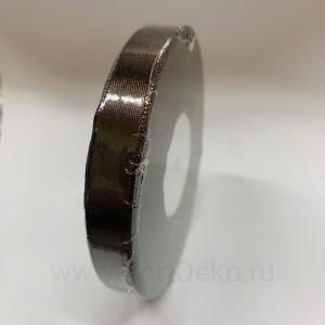 Лента атласная 12 мм, L-32,9 м (коричневый тёмный)