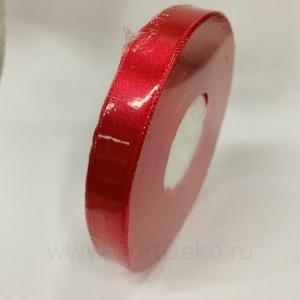 Лента атласная 12 мм, L-32,9 м (красный кармин)