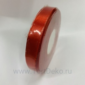 Лента атласная 12 мм, L-32,9 м (красный насыщенный)