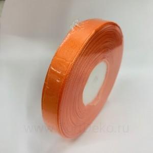 Лента атласная 12 мм, L-32,9 м (оранжевый)