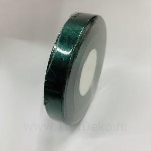 Лента атласная 12 мм, L-32,9 м (зеленый темный)