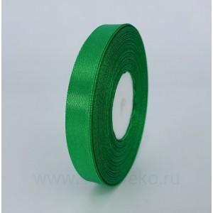 Лента атласная 12 мм, L-32,9 м (зеленый)
