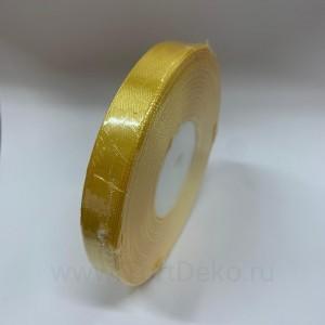 Лента атласная 12 мм, L-32,9 м (желтый насыщенный)