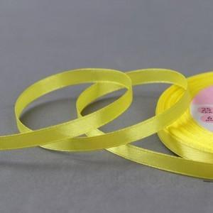 Лента атласная №15 6мм*25±1ярд жёлтый АУ