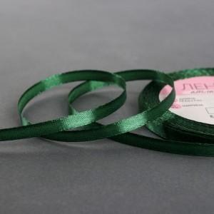 Лента атласная №49 6мм*25±1ярд тёмно-зелёный АУ
