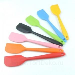 Лопатка кондитерская силиконовая жаростойкая 21 см (цвет в ассортименте)