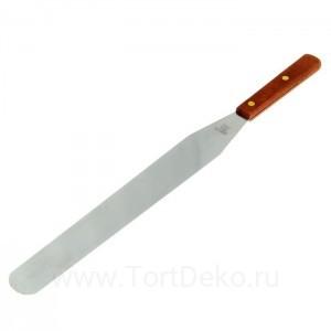 Лопатка-палетка с деревянной ручкой, прямая, 43 см