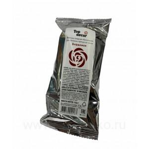 Мастика сахарная ванильная Топ-Декор (бордовая) 100 г