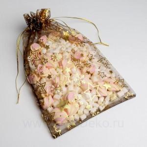Мешочек подарочный органза «Исполнения желаний», 20 х 30 см