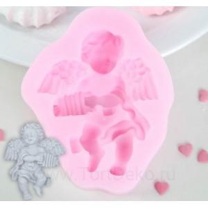 """Молд """"Ангел с письмом"""", 90х74х20 мм, розовый"""