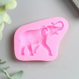 """Молд силикон """"Индийский слон - хобот вверх"""" 1,2х6х8,5 см"""