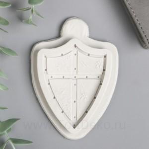 """Молд силикон """"Рыцарский щит"""" 0,6х5,5х7,3 см"""