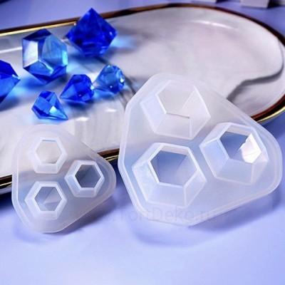 """Молд силиконовый 3D """"Алмазы №2"""", 2,5см"""