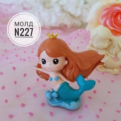 """Молд силиконовый 3D """"Русалочка №227"""""""