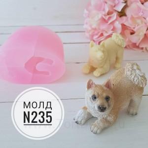 """Молд силиконовый 3D """"Собачка №235"""",  50*80 мм"""