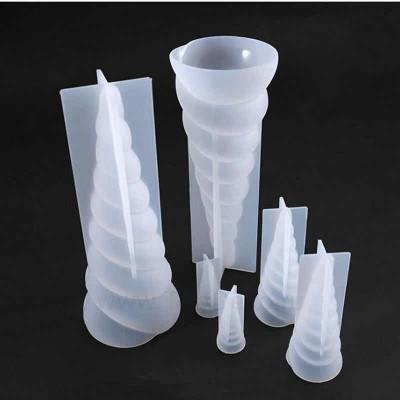 Молд силиконовый 3D «Рог Единорога» , h=20 см