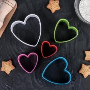 """Набор форм для печенья 5шт """"Сердце"""""""