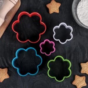 """Набор форм для печенья из 5 шт """"Цветочек"""", цвета МИКС"""