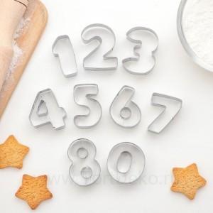 """Набор форм для печенья из 9 шт """"Цифры"""""""