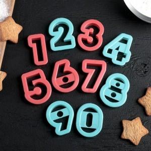 """Набор форм для вырезания печенья 10шт """"Цифры"""""""