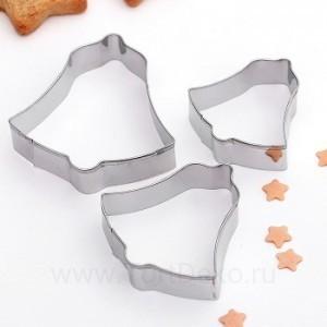 """Набор форм для вырезания печенья 3 шт """"Колокольчик"""""""