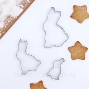 """Набор форм для вырезания печенья 3 шт """"Кролик"""" 7,5х1,5 см"""