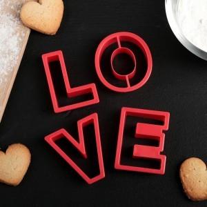 """Набор форм для вырезания печенья 4 шт """"Любовь"""""""