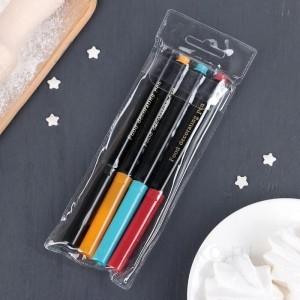 Набор маркеров для украшения десертов 4 шт 18,7x6,5x1,5 см разноцветные