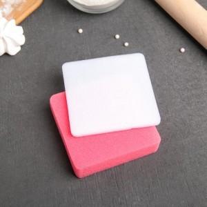 Набор матов для моделирования и сушки цветов из мастики 2 шт 9,5х9,5х1,5 см