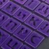 """Набор печатей для марципана и теста 43 шт с держателем """"Алфавит русский, цифры"""""""
