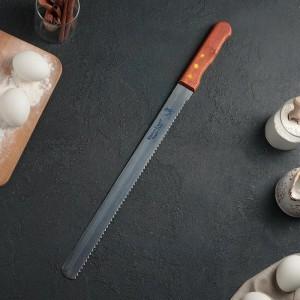 Нож для бисквита крупные зубцы, рабочая 35 см