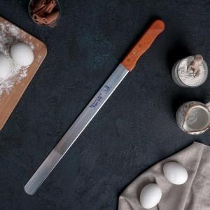 Нож для бисквита, ручка дерево, 36 см