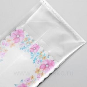"""Пакет """"Цветы"""", с жестким дном, № 1"""