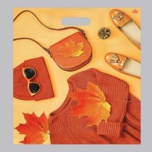 """Пакет """"Оранжевый стиль"""", полиэтиленовый с вырубной ручкой, 38х45 см, 60 мкм"""