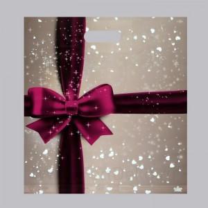 """Пакет """"Подарочный перламутр"""", полиэтиленовый с вырубной ручкой, 38х45 см, 60 мкм"""