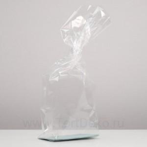"""Пакет """"Подарочный"""" с жестким дном №2, прозрачный"""