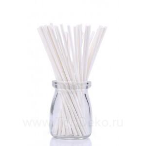Палочки бумажные для Cake pops (белые, 20 см, 50 шт)