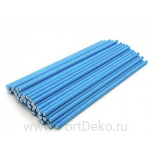 Палочки бумажные для Cake pops (голубые, 15 см, 50 шт)